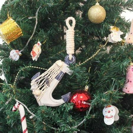 Handcrafted Nautical Decor Anchor Christmas Ornament - Nautical Christmas Ornaments