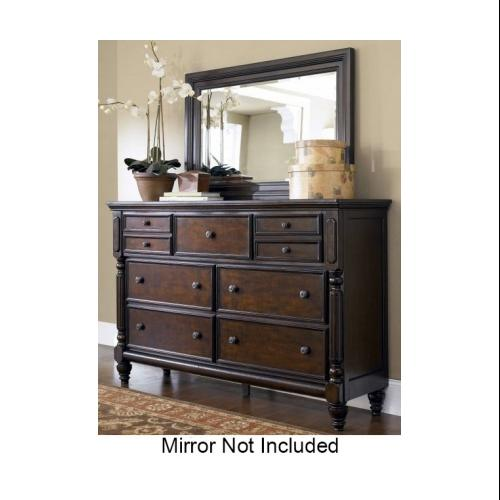 Ashley B66831 Key Town Dresser With Seven Drawers One Hidden Jewelry Drawer  And Dark Bronze Colored