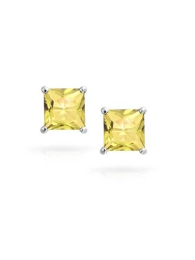 9f1ade8f6 Product Image Pori Jewelers 14K Solid White Gold Birthstone Princess-cut Stud  Earrings made with Crystals by