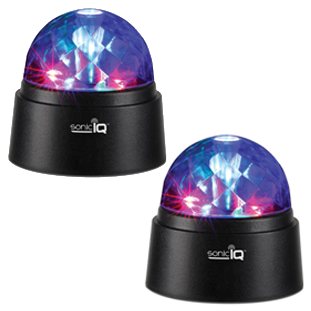 2 Portable Disco Lights LED Battery Stage Crystal Ball Strobe Disco DJ Party New by SMART WORKS