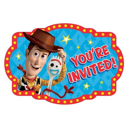 Disney Pixar Toy Story 4 Woody and Forky Birthday Party Invitations 16 Count Save the Date