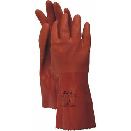 Boss Manufacturing Corp Non Da 8620XL Extra-Large Orange Atlas PVC Gloves