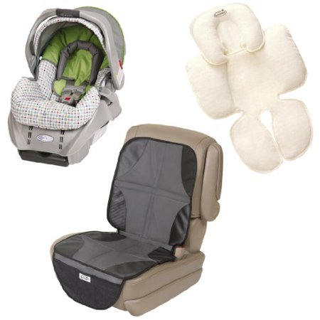 Graco SnugRide Classic Connect Infant Car Seat With Body Support Insert Mat