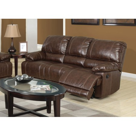 Acme Daishiro Reclining Sofa In Chestnut Bonded Leather