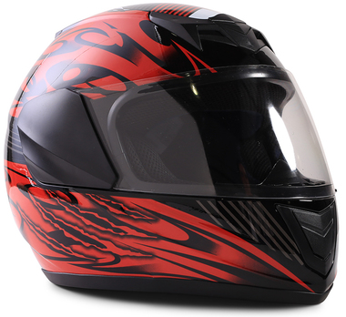 Typhoon Youth Full Face Red Helmet Size Small
