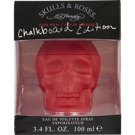 Ed Hardy Skulls & Roses Edt Spray 3.4 Oz (Chalkboard Edition) By Chris (Mens Skulls And Roses Cologne)