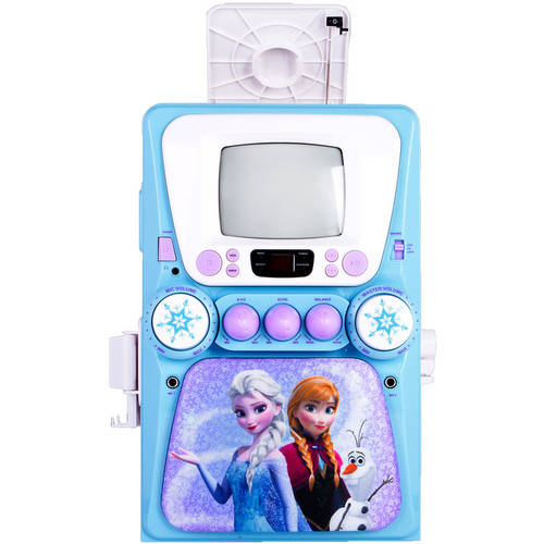 Disney Frozen Karaoke Machine with Monitor plus Bonus CD+G and Lyric Booklet by Sakar International