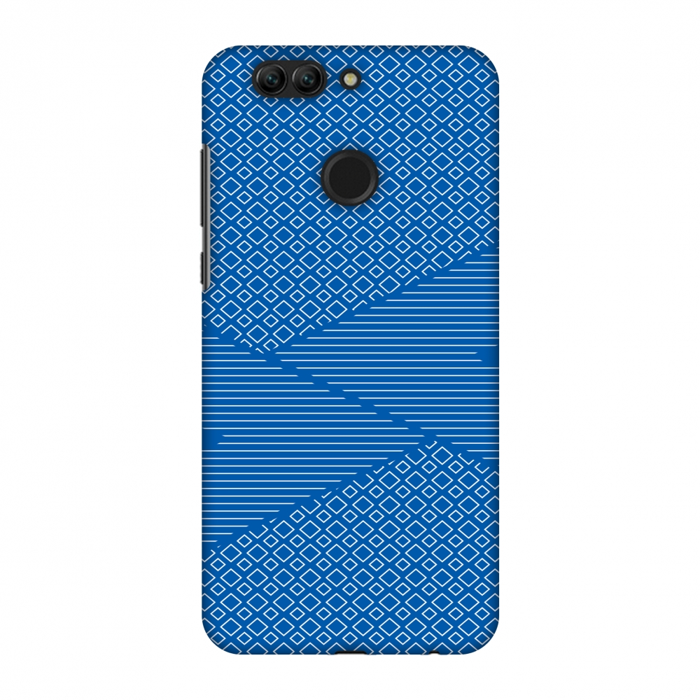 Huawei Nova 2 Plus Case, Premium Handcrafted Printed Designer Hard Snap on Shell Case Back Cover with Screen Cleaning Kit for Huawei Nova 2 Plus - Carbon Fibre Redux Coral Blue 6