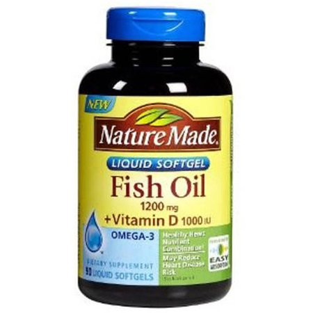 Nature made fish oil 1200mg 360mgomega 3 vitamin d 1000 for Vitamin d fish