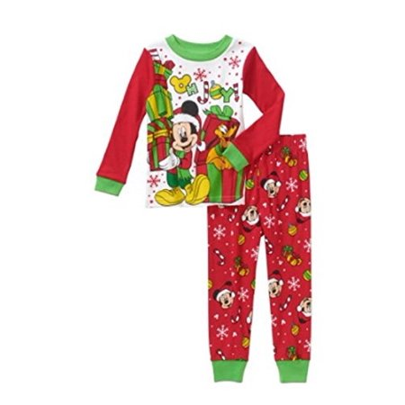 Mickey Mouse - Disney Mickey Mouse   Pluto Christmas Holiday Baby Toddler  Pajamas Sleepwear (12m) - Walmart.com b08ce7a16