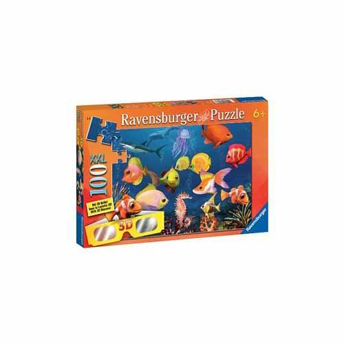 3D Fascinating Underwater World 100 Pc. Chromadepth Puzzle by Ravensburger - 13627