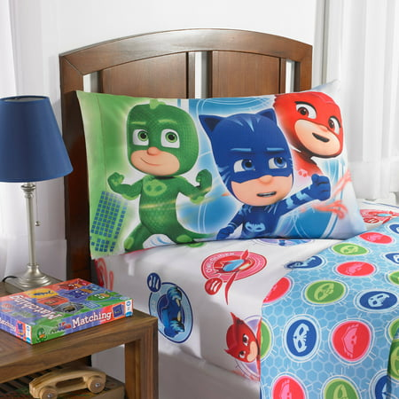 PJ Masks 'On Our Way' Bedding Sheet Set, 4 Piece - Northern Night Sheets