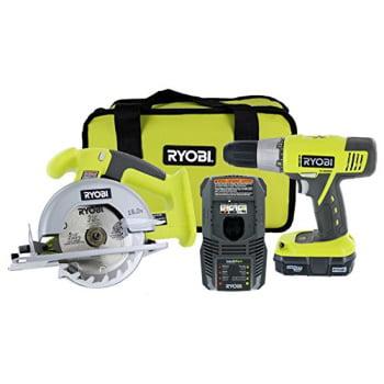 ryobi p825 18v one+ cordless lithium ion power tool starter kit (includes 1/2