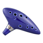 12 Hole Ocarina Ceramic Alto C Vessel Flute Wind Musical Instrument Legend of Zelda