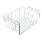 """White Wire Under Shelf Storage Organization Basket, 15"""", White, Store your food wrappers and bags in one convenient location! By Southern Homewares"""