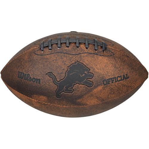 "Gulf Coast NFL Wilson 9"" Throwback Football, Detroit Lions"
