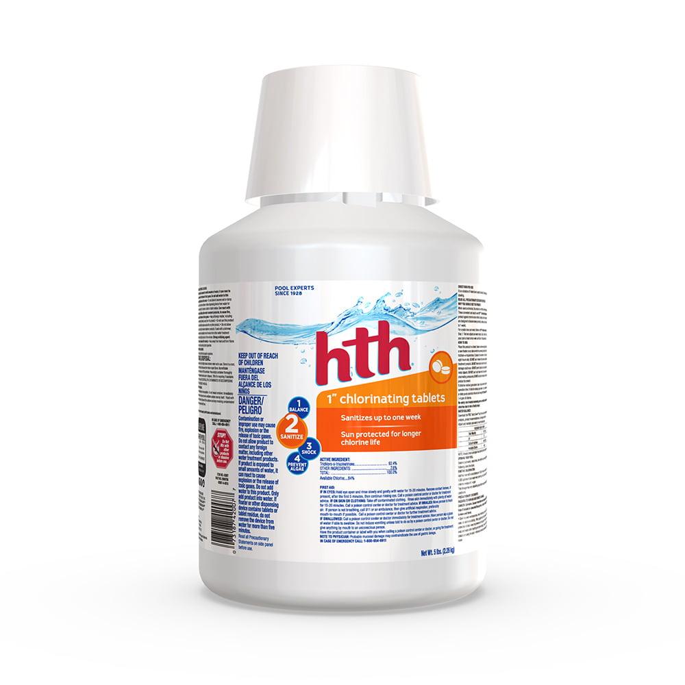 "... hth Pool 1"" Chlorinating Tablets, 5 lb"