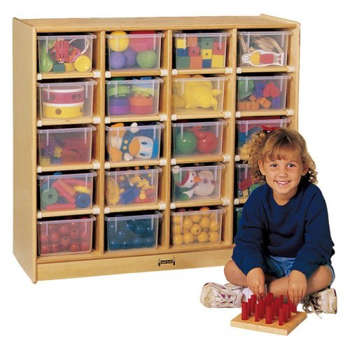 20 Tray Mobile Storage With Colored Trays-Option:With Clear Trays