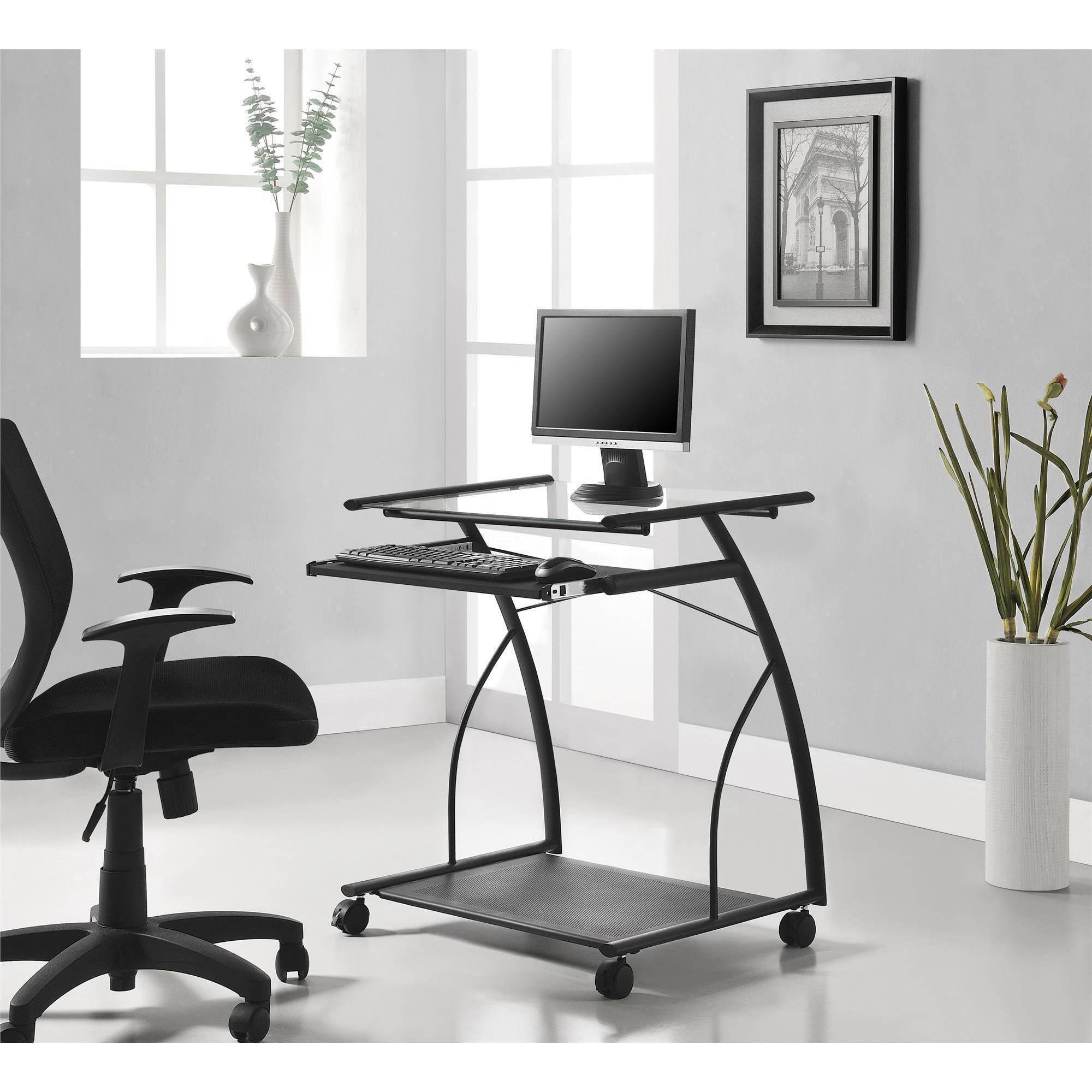 Altra Furniture Mobile puter Cart Desk Black Walmart