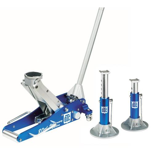 OTC Tools & Equipment 1533 2-Ton Aluminum Racing Jack w/ Pair of 2-Ton Aluminum Jack Stands