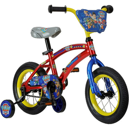 Boys 12 Inch Paw Patrol Bike Red