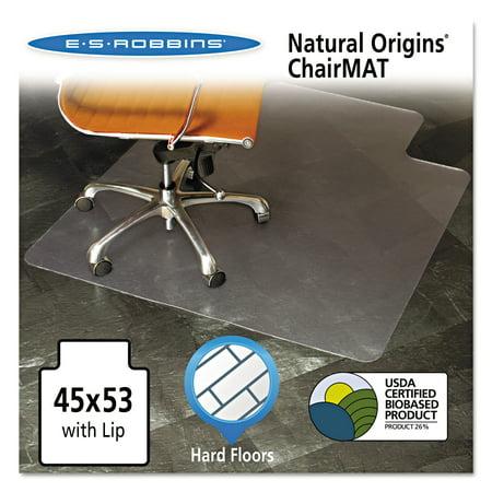 ES Robbins Natural Origins Chair Mat With Lip For Hard Floors 45 – 45 X 53 Chair Mat