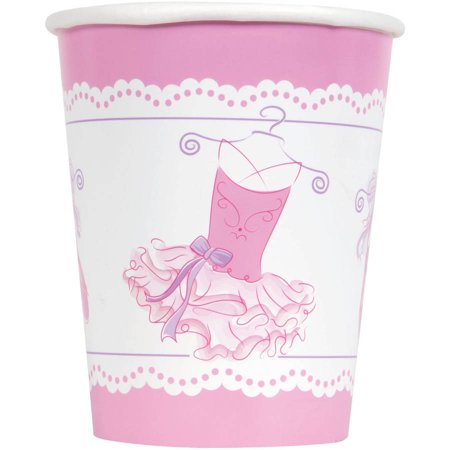 9oz Paper Pink Ballerina Cups, 8ct](Pink Cups)