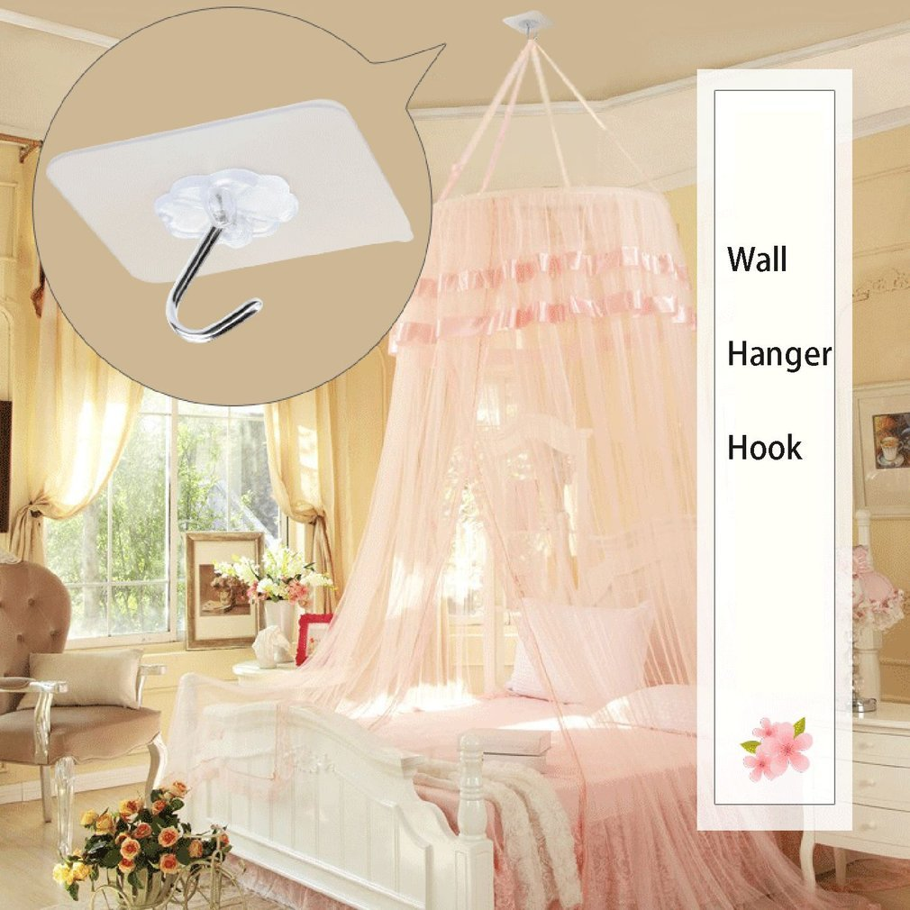 Seamless Adhesive Waterproof Transparent Hook Load Bearing 10kg Wall Hook Kitchen Bathroom Wall Hanger Organizer