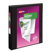"Avery Durable View 3 Ring Binder, 1"" Slant Rings, 1 Black Binder"