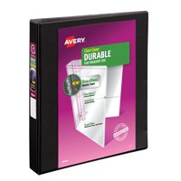 "Avery 1"" Durable View Binder, Slant Ring, Black, 220 Sheets"