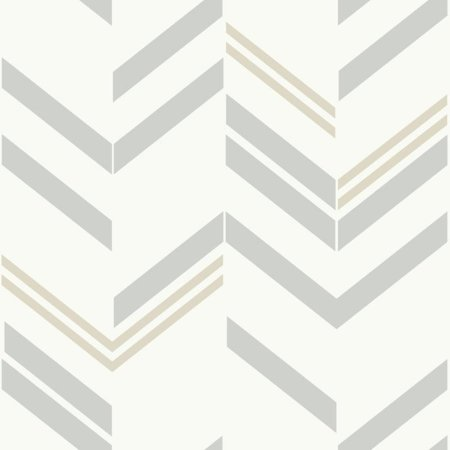 Gray Stripe Wallpaper (RoomMates Grey Chevron Stripe Peel & Stick)