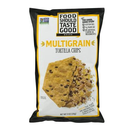 Food Should Taste Good  Tortilla Chips Gluten Free Non Gmo Multigrain 11 0 Oz Bag  11 0 Oz