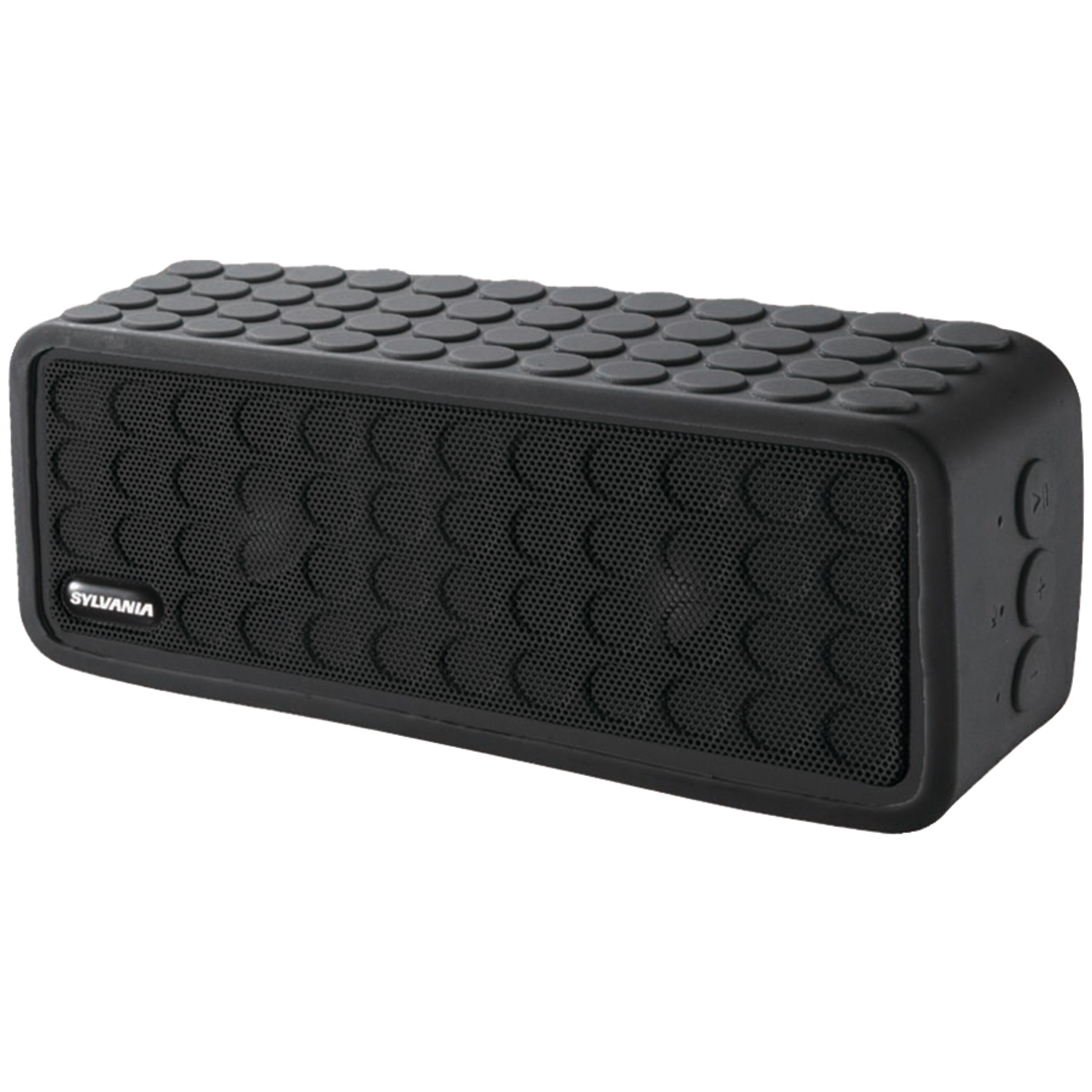 Sylvania Sp258-black Bluetooth Mini Speaker With Silicone Protective Cover (black)