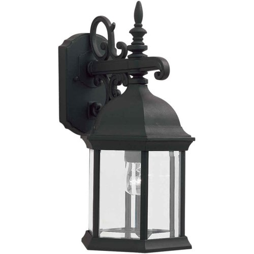 3-Light Black Outdoor Wall Lantern
