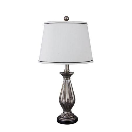 Fangio Lighting 26' Resin Table Lamp, Antique Silver - W-6169 - Fangio Lighting Resin
