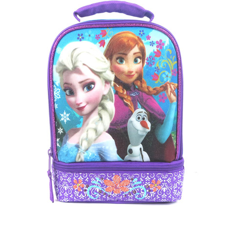 Frozen Disney Princess Dual-Compartment Insulated Lunch Kit, Blue/Purple