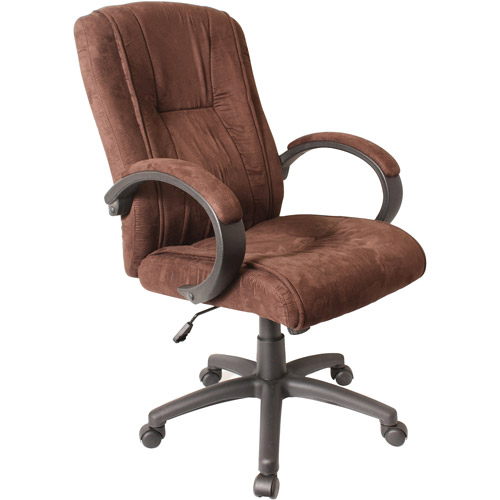 Comfort Products Padded Microfiber Fabric Executive Chair, Brown