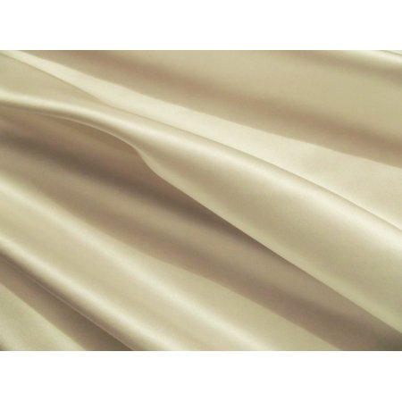 "Satin FABRIC 10 YARDS OF 100% Satin 60 inch WIDE 15 COLOR Tablecloth By the Yard"", (Color: Ivory)"