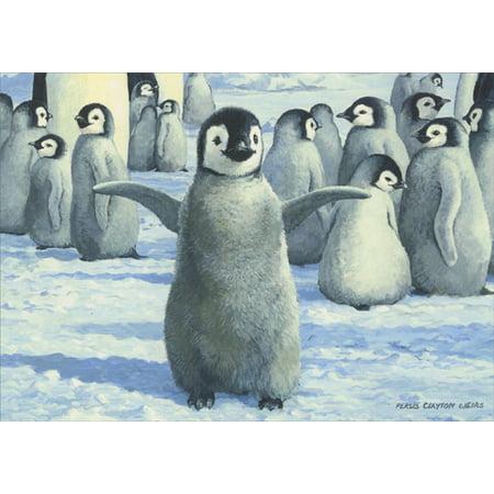 LPG Greetings Happy Penguin Christmas Card