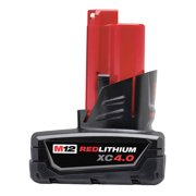 MILWAUKEE M12  REDLITHIUM  XC Battery,  12.0 Voltage,  Li-Ion 48-11-2440