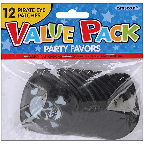 Party Favors, 12-Pack, Pirate Eye Patches