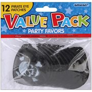 Party Favors, 12-Pack, Pirate Eye Patches by Amscan