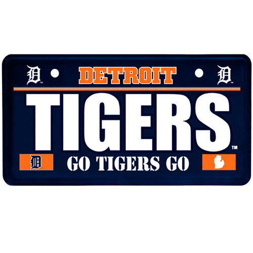 MLB - Detroit Tigers License Plate Sign