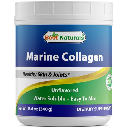 Best Naturals Marine Collagen Powder from Wild-Caught Snapper Unflavored 340 Gram - Supports Healthy Anti Aging Hair Skin &