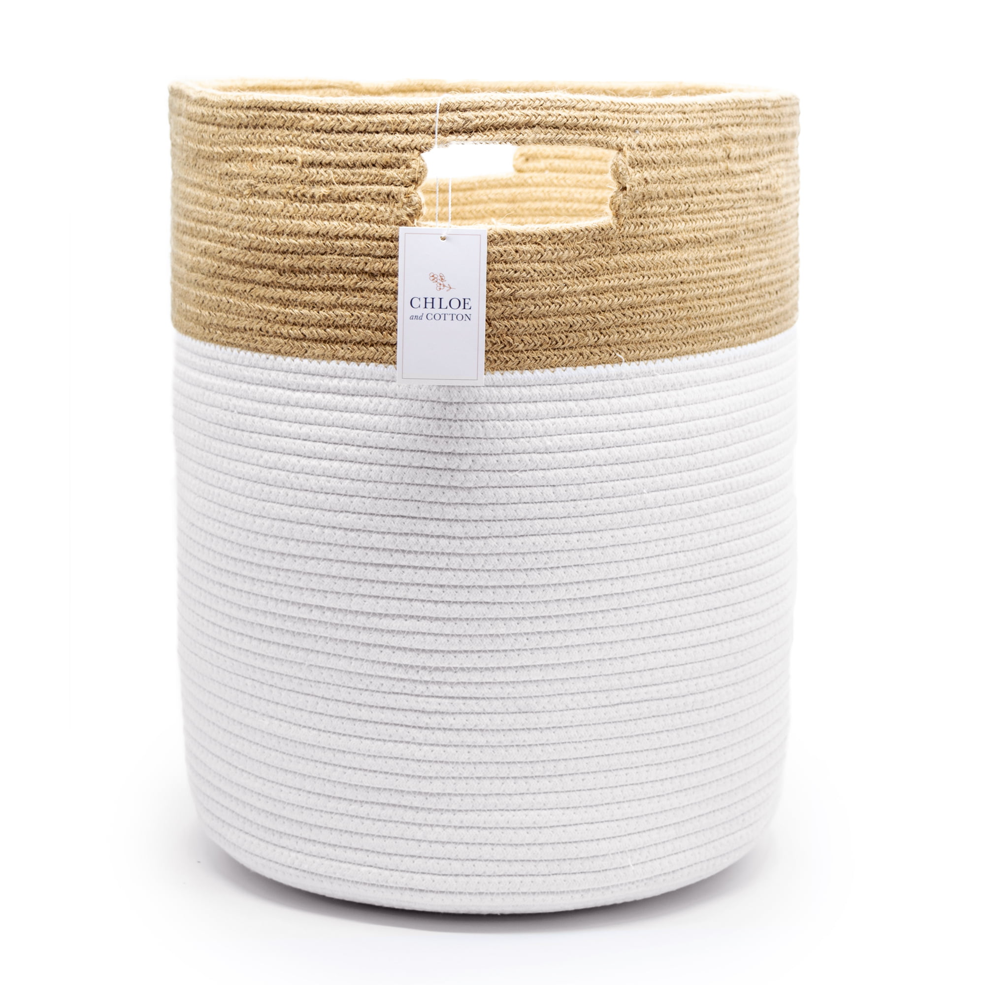 Chloe and Cotton XL Extra Large Woven Rope Laundry Basket ...