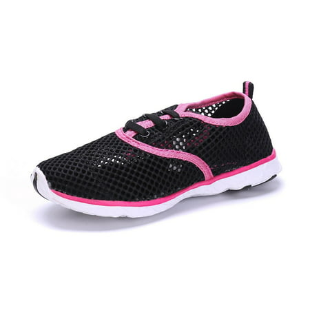 Sea Kidz Kids Water Sneakers Shoes Black/Pink/Navy Mesh Lightweight Waterproof
