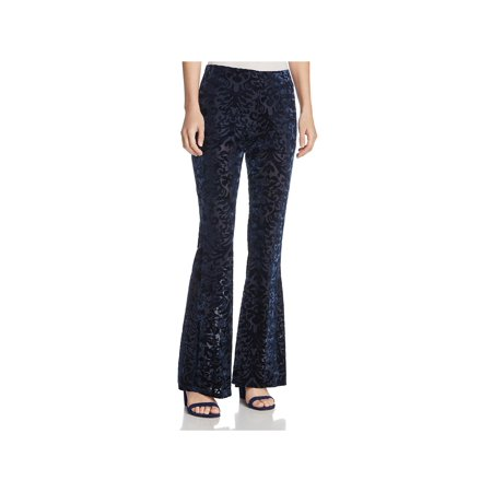 Blue Velvet Pants (PPLA Womens Velvet Skinny Wide Leg Pants)