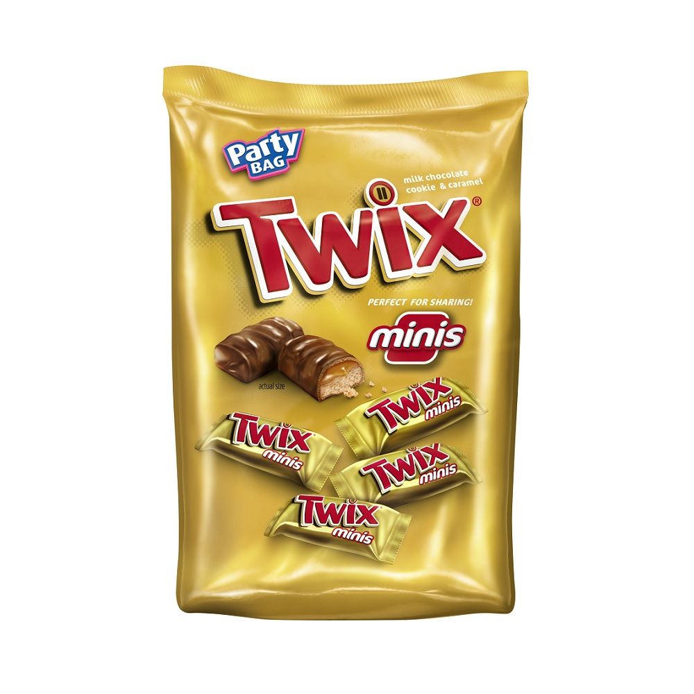 TWIX Caramel Minis Size Chocolate Cookie Bar Candy Bag, 40 oz