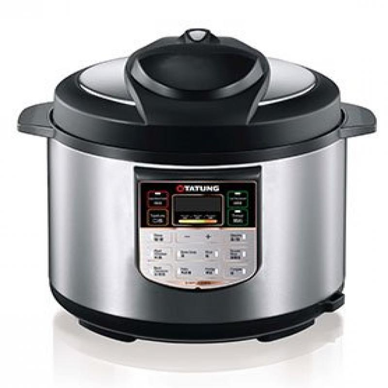 6L stainless steel pressure cooker w/ stainless steel inner pot - Black by TATUNG