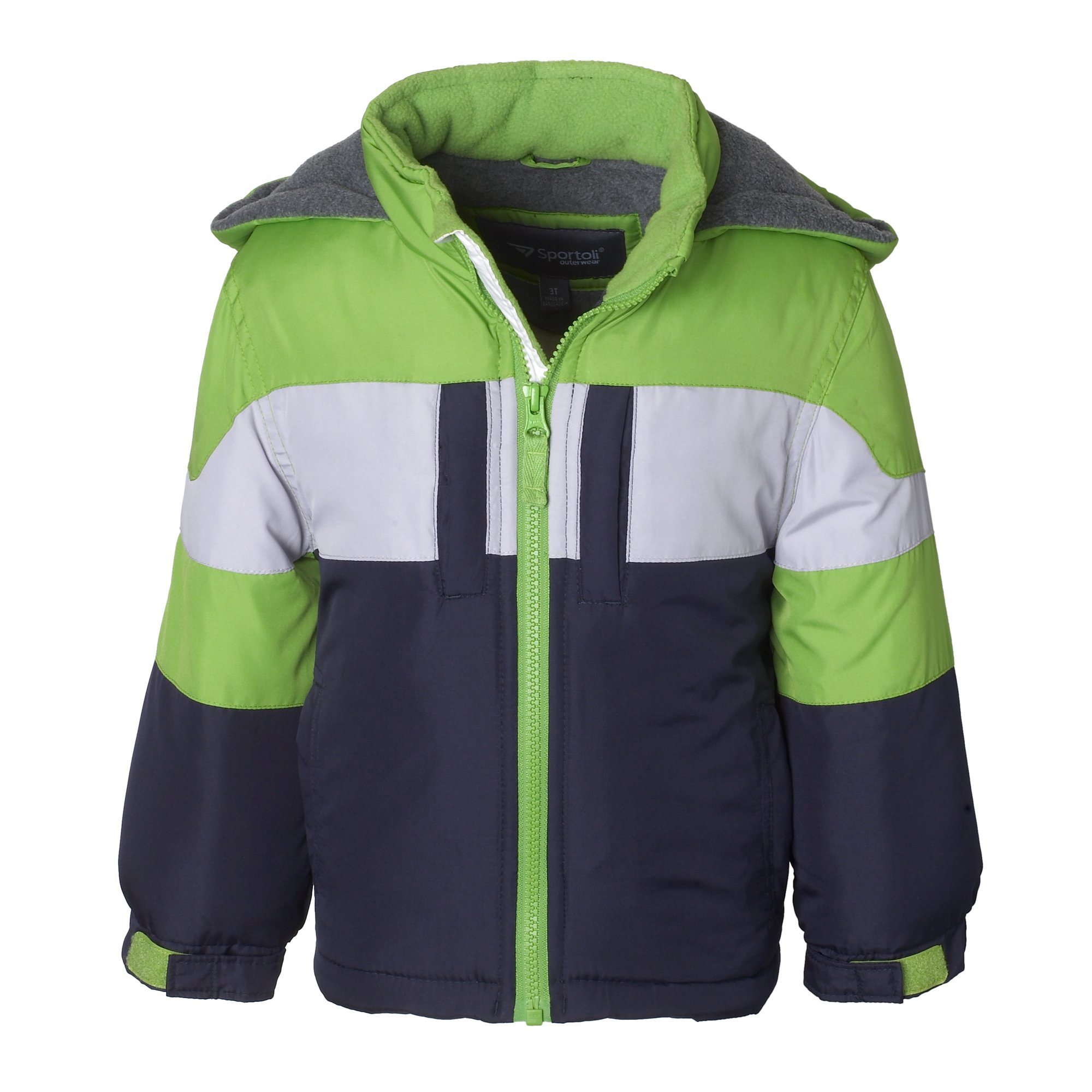 5f60d6636c9c Buy Sportoli Boys  Fleece Lined Hooded Colorblock Winter Puffer ...